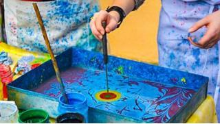 Правополушарное рисование, рисование на воде «Эбру» или рисование на песке на выбор в студии Magichands! Скидка до 74%!